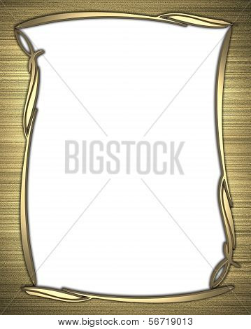 Gold background with a white nameplate with gold pattern
