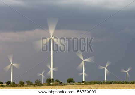 Windmills skyline