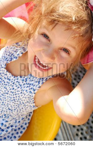 Happy Smiling Little Girl Outdoor