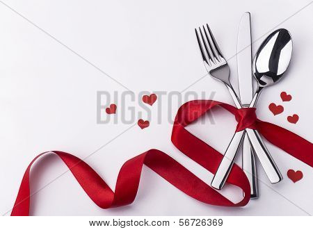 Valentines Day Set With Silverware