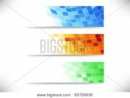 Headers Collection - Abstract Tiles Background