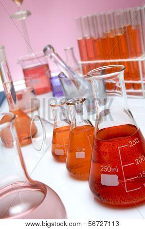 detalle de un laboratorio de químico