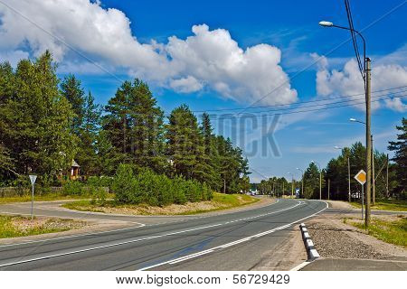 Federal Highway M18 «Kola» Of Saint-Petersburg - Murmansk. Karelia, Russia