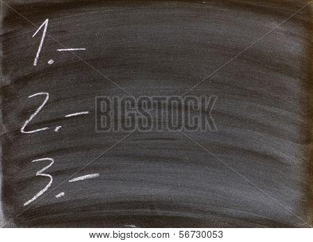 to-do list written on a blackboard
