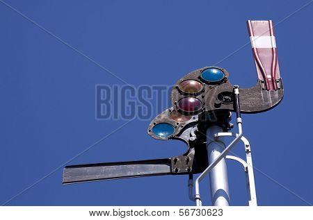 Railroad Semaphore Signal