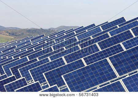 detail of photovoltaic solar panels for renewable electric energy production