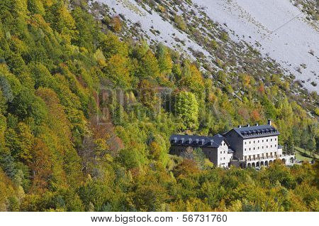 Ordesa and Monte Perdido National Parador in Pineta Valley, Huesca, Aragon, Spain
