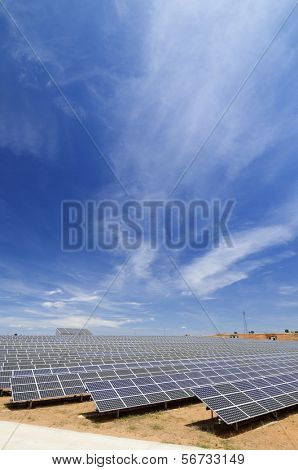 solar field for electric power generation with idyllic heaven