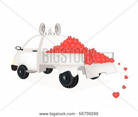 Many Heart On A Pickup Truck Ready For Sale