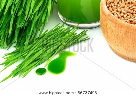Wheatgrass Juice, Sprouted Wheat And Wheat
