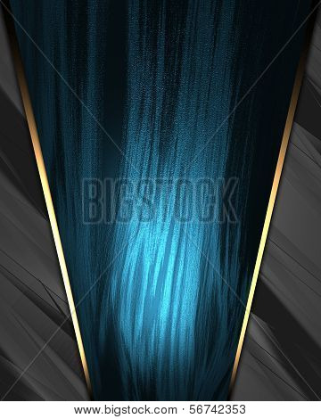 Metal Background with beautiful blue nameplate.