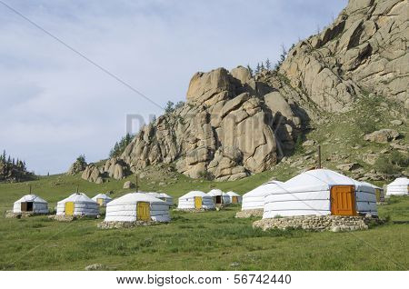 Gers mongol en el Parque Nacional Gorkhi-Terelji, Mongolia