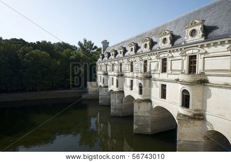 CHENONCEAU, FRANCE - AUGUST 19: Castle on August 19, 2012 in Chenonceau, France. It was built in 1513 by Katherine Briconnet, houses a collection of valuable paintings and striking good.
