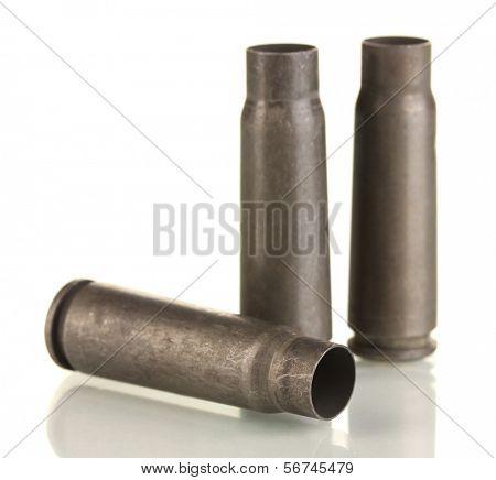 Shotgun cartridges isolated on white
