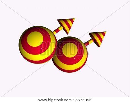 3D Gay Male Symbol