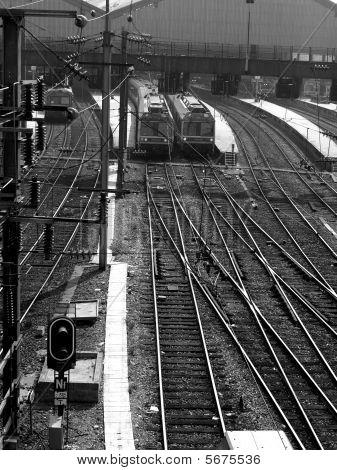 Train station.