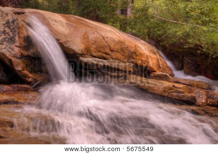 Small Sierra Waterfall Forest Hdr