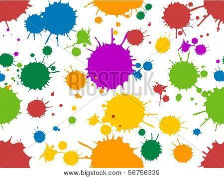 Ilustración transparente ofreciendo al azar de color tinta Splats