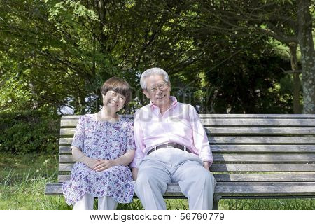 The old couple who sits on the bench