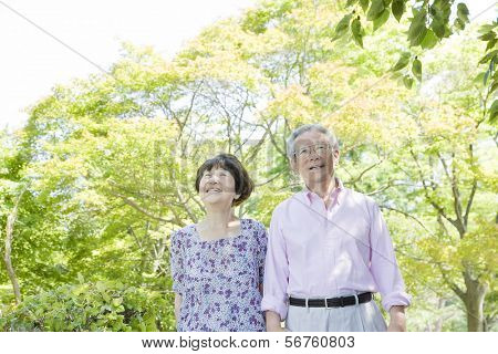 The old couple who smiles