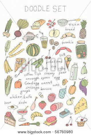 Hand drawn - food