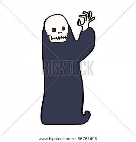 ghoul de halloween ondulação dos desenhos animados