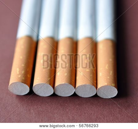 view of a cigarette