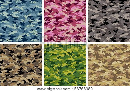 Camouflage Vector Set, Camoflage
