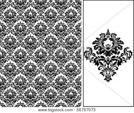 Damask Seamless Tiling wallpaper pattern