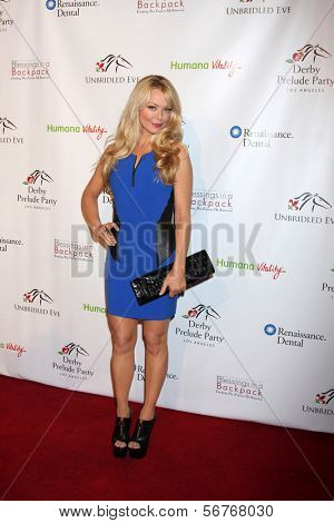 LOS ANGELES - 9 de JAN: Charlotte Ross na festa