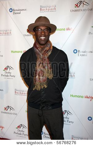 LOS ANGELES - 9 de JAN: Isaiah Washington na festa