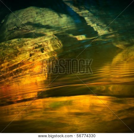 Rainbow Wavelets In Water