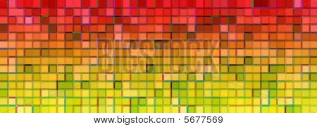 Banner Of The Iridescent Multicolored  Squares