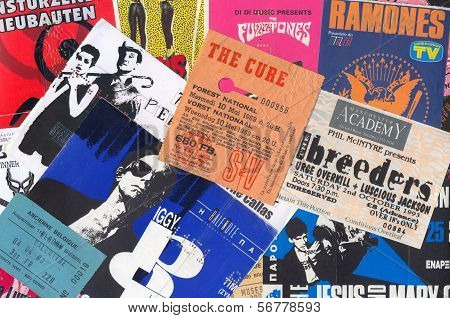 Rock Music Vintage Concert Tickets