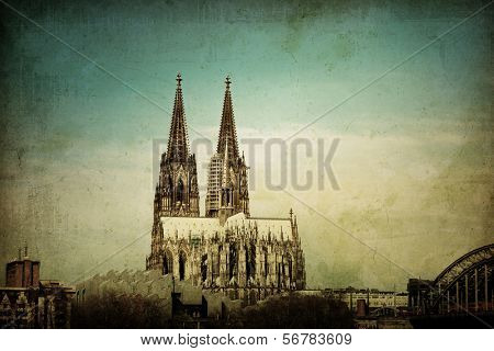 view of Gothic Cathedral in Cologne, Germany