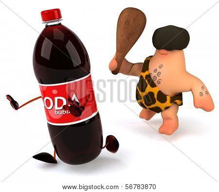 Caveman and soda