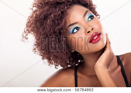 african american female beauty closeup