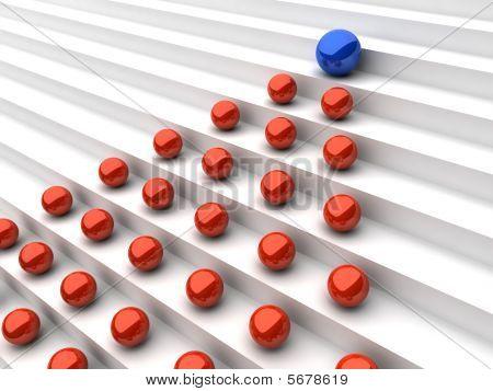 Leadership concept (spheres)