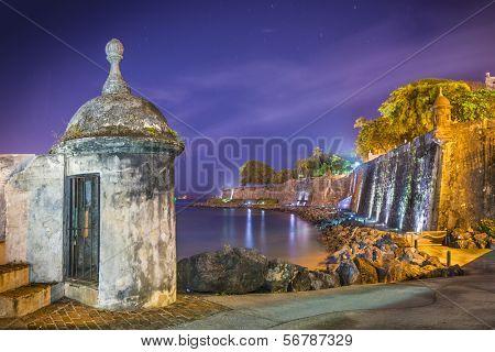 Paseo Del Morro in San Juan, Puerto Rico.