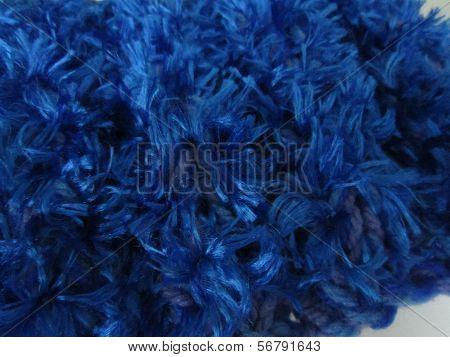 Fuzzy Blue Knit