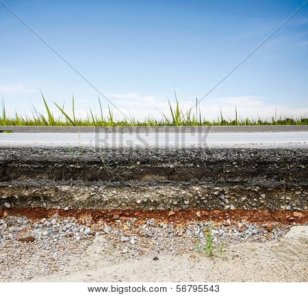 Asphalt Road With Blue Sky