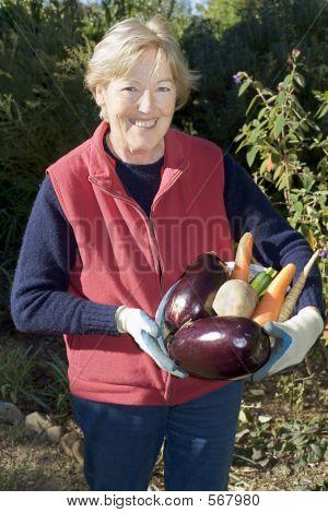 Holding Vegetables