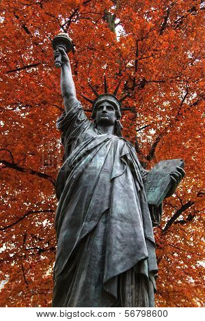 Original Statue Of Liberty In Paris France
