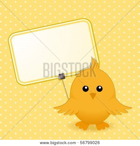 Easter Chick And Sign