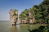 picture of james bond island  - Ko Tapu island in Phang Nga Bay Thailand. James Bond island from the The Man with the Golden Gun