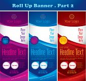 stock photo of tide  - Multipurpose roll up banner series - JPG