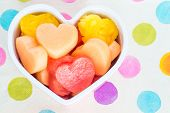 picture of cantaloupe  - Valentines Day child friendly healthy treat with heart - JPG