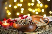 image of christmas meal  - Bowl with kutia  - JPG