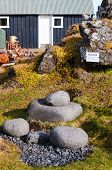 Icelandic Four Well-known Lifting-stones, On Which The Fishermen Tested Their Strength. poster