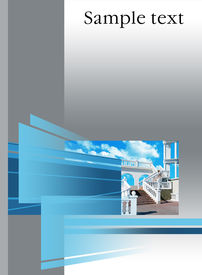 stock photo of prospectus  - architectural cover booklet - JPG